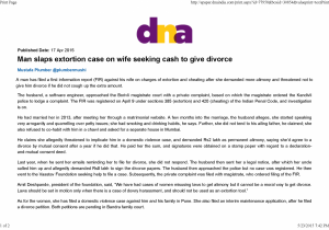 DNA - FIR against wife for alleged bid to extort money from Husband